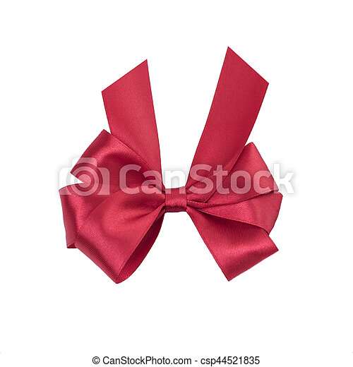 Beautiful red bow. - csp44521835