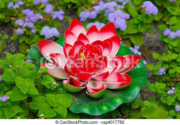Beautiful red lotus flower taken in kiev in summer stock photo beautiful red lotus flower csp4017782 mightylinksfo