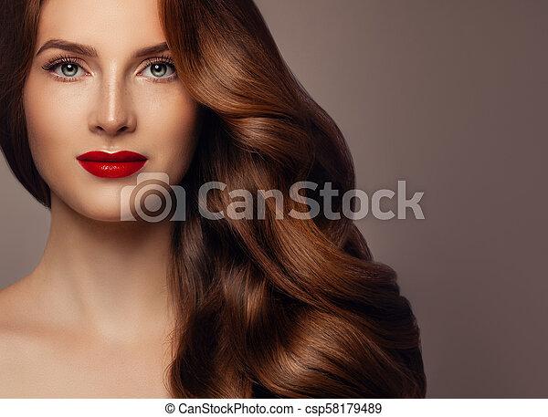 Fashion model redhead