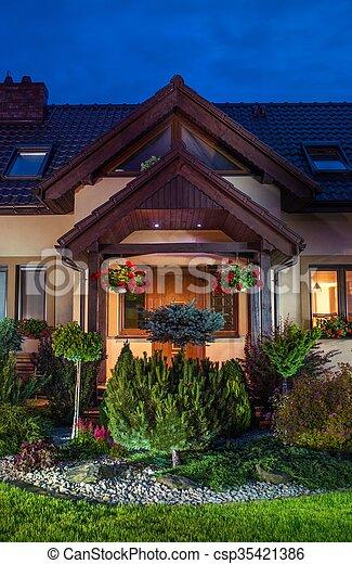 Beautiful Rockery Garden - csp35421386