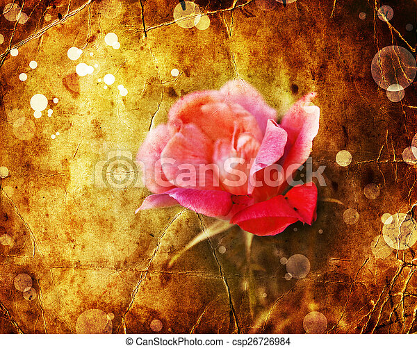 Beautiful Romantic Background With Red Pink Roses Petals Summer