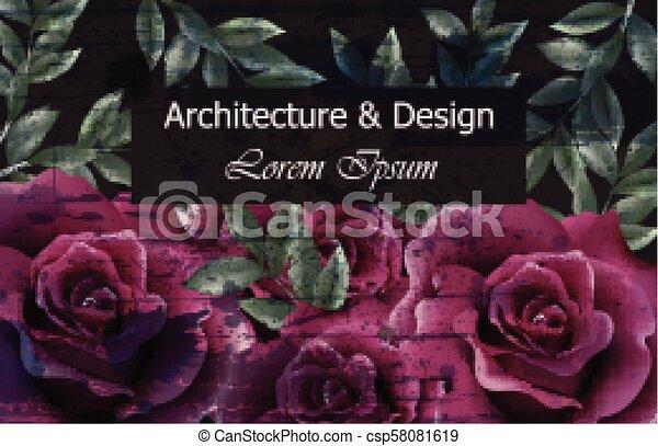 Beautiful Roses Background Vector Dark Violet Roses Flowers Decor