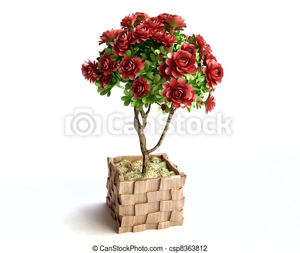 Clip art of beautiful roses in flower pot 3d house plant beautiful roses in flower pot csp8363812 ccuart Image collections