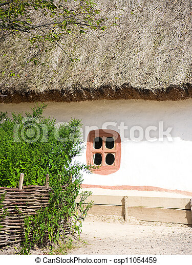 Beautiful rural cottage in summer  - csp11054459