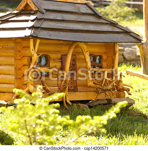 Beautiful rural cottage in summer t - csp14200571