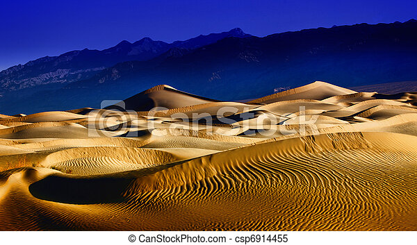 Beautiful Sand Dune Formations in Death Valley California - csp6914455