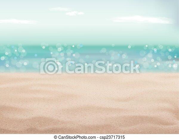 Beautiful Sand Of Beach Scene Background Vector