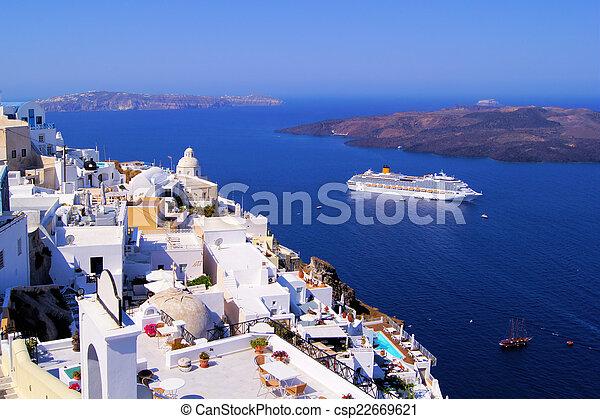 Beautiful Santorini - csp22669621