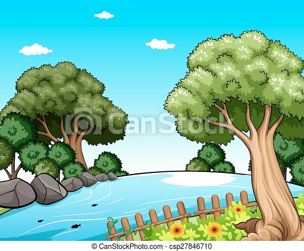 Beautiful Scenery Of Mother Nature Vector Clip Art