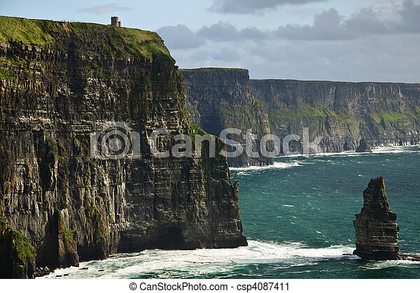 beautiful scenic landscape from the west coast ireland - csp4087411