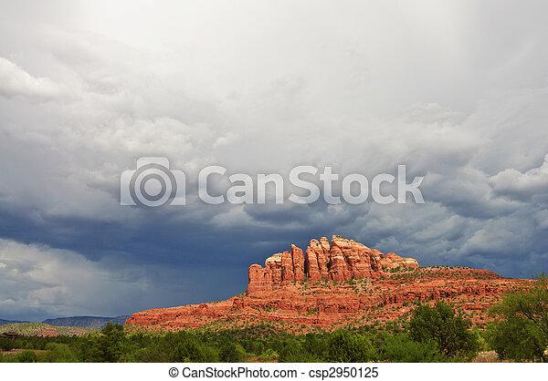 beautiful scenic red sandstone rock landscape - csp2950125