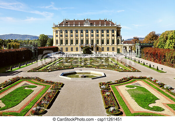 Beautiful Schonbrunn Palace in Vienna, Austria  - csp11261451