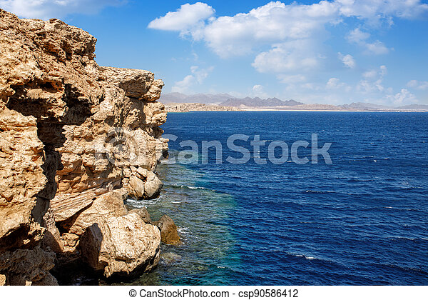 beautiful sea view of Ras Mohammed in Egypt - csp90586412