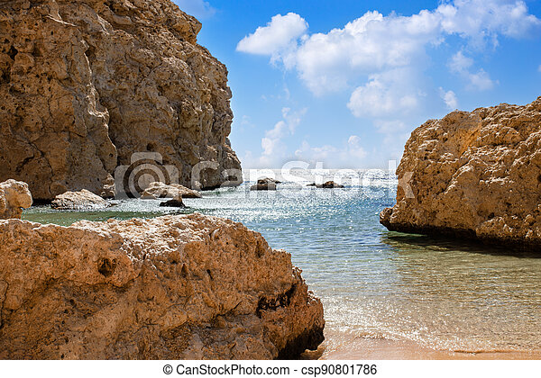 beautiful sea view of Ras Mohammed in Egyp - csp90801786