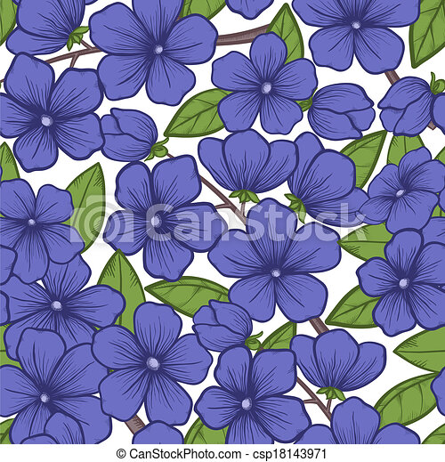 Beautiful seamless background with blossoming tree branches. - csp18143971