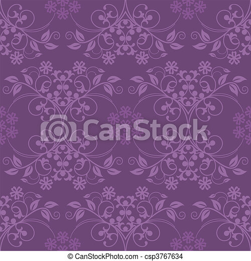 Beautiful seamless purple wallpaper - csp3767634