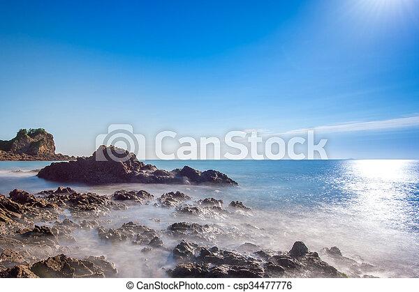 Beautiful seascape and blue sky. - csp34477776