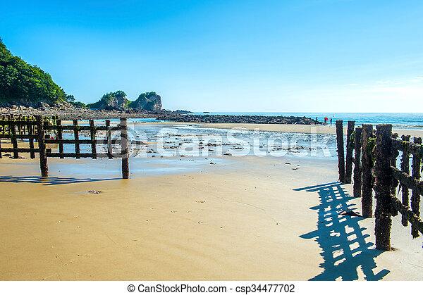 Beautiful seascape and blue sky. - csp34477702