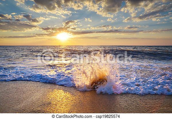 Beautiful seascape - csp19825574
