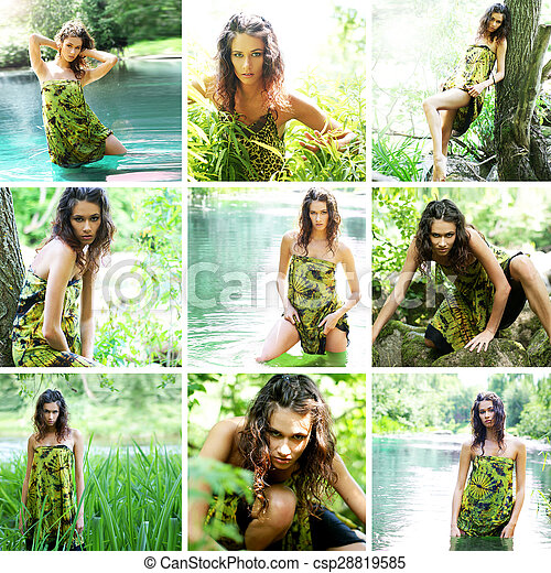 Sexy jungle girl