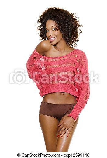 Beautiful sexy young woman - csp12599146