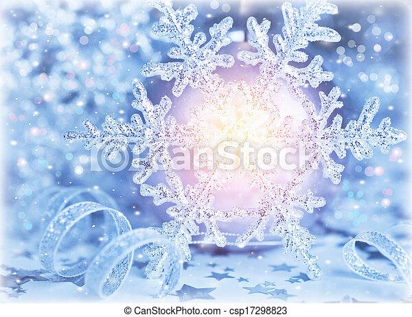 Beautiful shiny snowflake - csp17298823