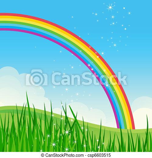 Beautiful shiny summer meadow. - csp6603515