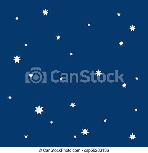 Beautiful simple night starry sky seamless pattern - csp56233136