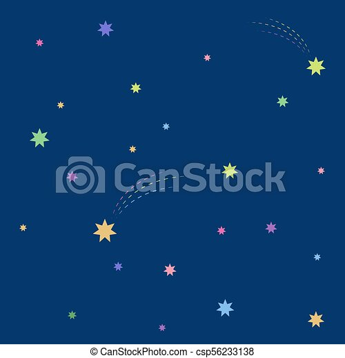 Beautiful simple night starry sky seamless pattern - csp56233138