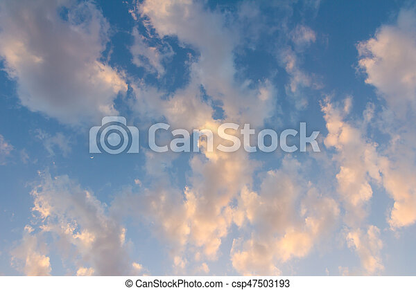 beautiful sky and clouds in the evening - csp47503193