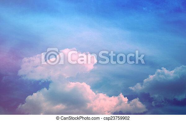 Beautiful sky background - csp23759902