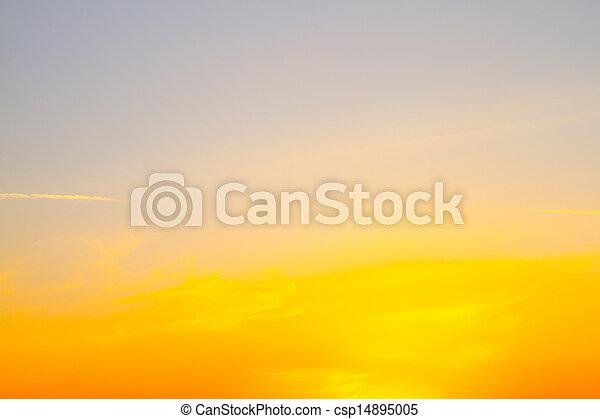 Beautiful sky of a sunset - csp14895005