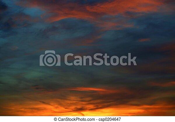 Beautiful sky - csp0204647