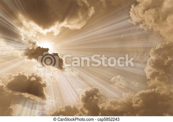 Beautiful  sky - csp5852243