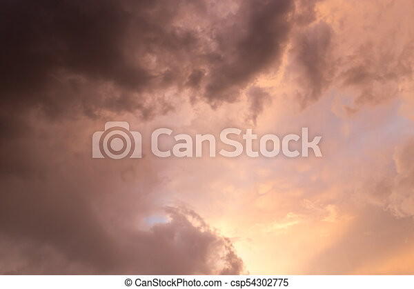 beautiful sky with clouds in the evening - csp54302775