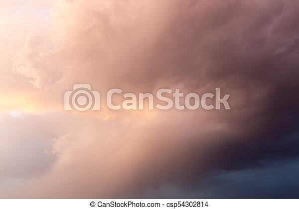 beautiful sky with clouds in the evening - csp54302814
