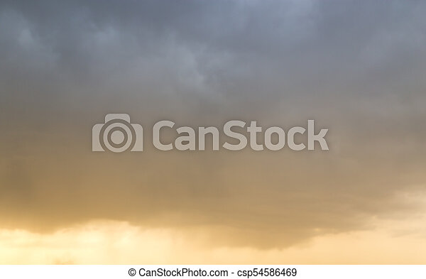 beautiful sky with clouds in the evening - csp54586469