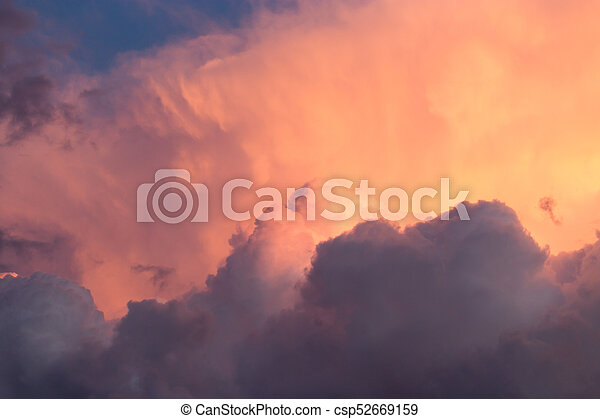 beautiful sky with clouds in the evening - csp52669159