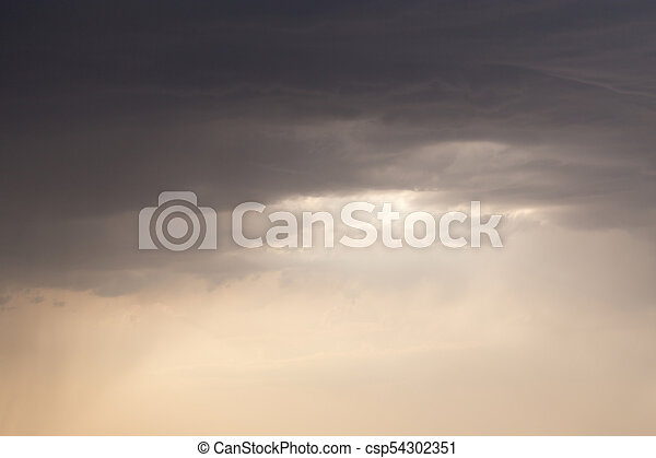 beautiful sky with clouds in the evening - csp54302351