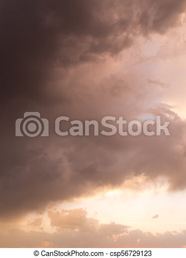 beautiful sky with clouds in the evening - csp56729123