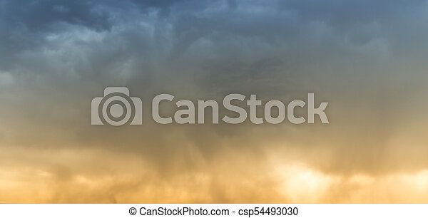beautiful sky with clouds in the evening - csp54493030