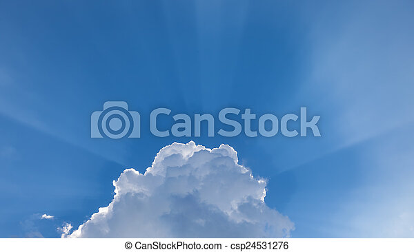 Beautiful sky with clouds in the background - csp24531276