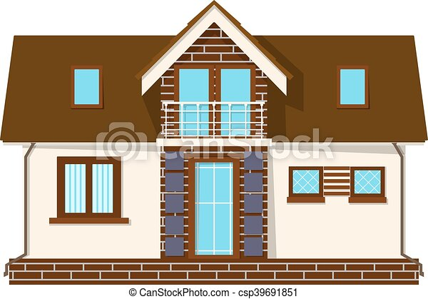beautiful small house with a loft balcony building with an attic cozy rural house with a - Small House With Attic