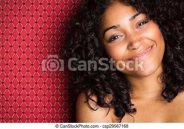 Beautiful Smiling Black Woman - csp29567168