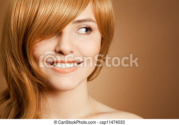 Beautiful smiling woman portrait - csp11474033