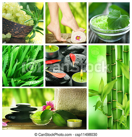 Beautiful Spa Collage  - csp11498030