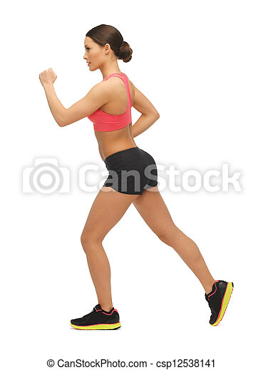 beautiful sporty woman doing exercise - csp12538141