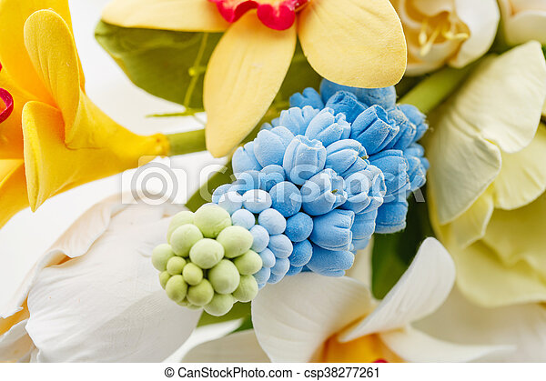 Beautiful spring flower bouquet - csp38277261