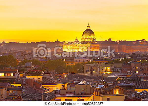 Beautiful St Peter Cathedral. Italy - csp50870287
