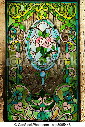 Beautiful stained-glass window - csp8095446
